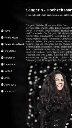 Vorschau der mobilen Webseite nataliemoon.de, Natalie Moon