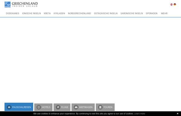 Vorschau von www.griechenland-insider-urlaub.de, Griechenland Insider Urlaub