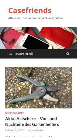 Vorschau der mobilen Webseite www.casefriends.de, casefriends