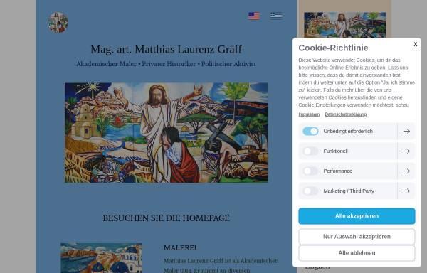 Vorschau von www.matthiaslaurenzgraeff.com, Matthias Laurenz Gräff, Akademischer Maler