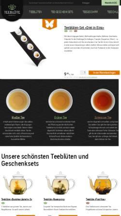 Vorschau der mobilen Webseite tee-bluete.de, Teeblüte: Die schönste Seite am Teegenuss