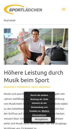 Vorschau der mobilen Webseite blog.sportlaedchen.de, Fitness Blog Sportlädchen