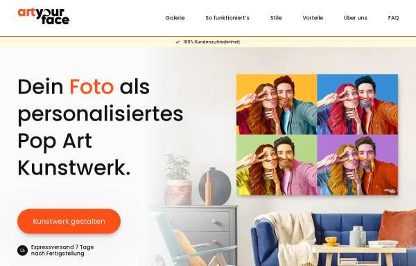 Vorschau von www.artyourface.de, ArtYourFace
