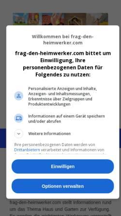 Vorschau der mobilen Webseite www.frag-den-heimwerker.com, Frag den Heimwerker