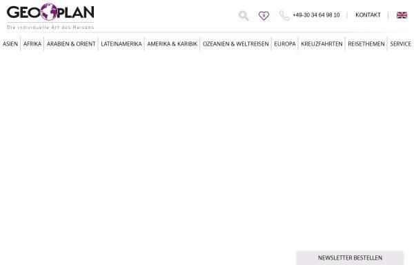 Vorschau von www.geoplan-reisen.de, Geoplan Touristik GmbH
