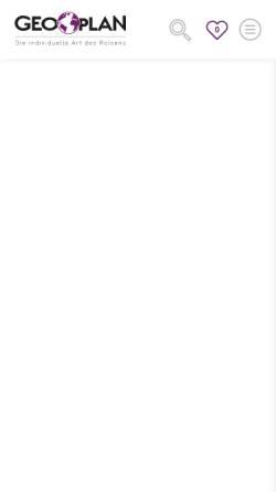 Vorschau der mobilen Webseite www.geoplan-reisen.de, Geoplan Touristik GmbH