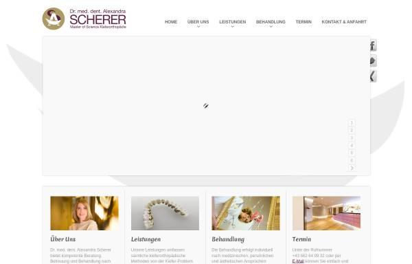 Vorschau von www.dr-scherer.at, Kieferorthopäde Salzburg: Dr. Alexandra Scherer, Spezialist für Kieferorthopädie