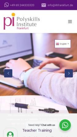 Vorschau der mobilen Webseite ihfrankfurt.de, Academia Suárez - International House Frankfurt