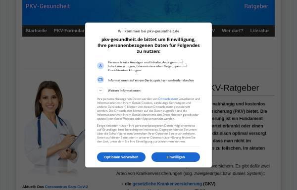 Vorschau von www.pkv-gesundheit.de, PVK-Gesundheit (Ratgeber)