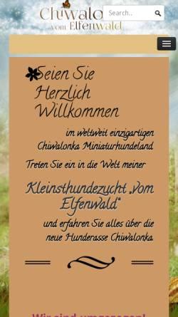 Vorschau der mobilen Webseite www.chiwalonka.com, Chiwalonka: Hundezucht vom Elfenwald