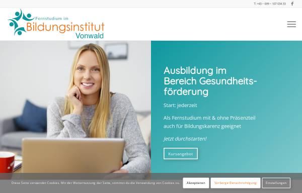 Vorschau von www.bildungsinstitut-vonwald.at, Bildungsinstitut Vonwald