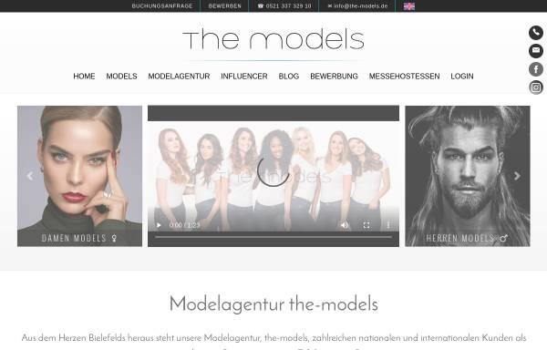 Vorschau von www.the-models.de, the-models