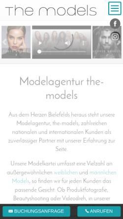 Vorschau der mobilen Webseite www.the-models.de, the-models