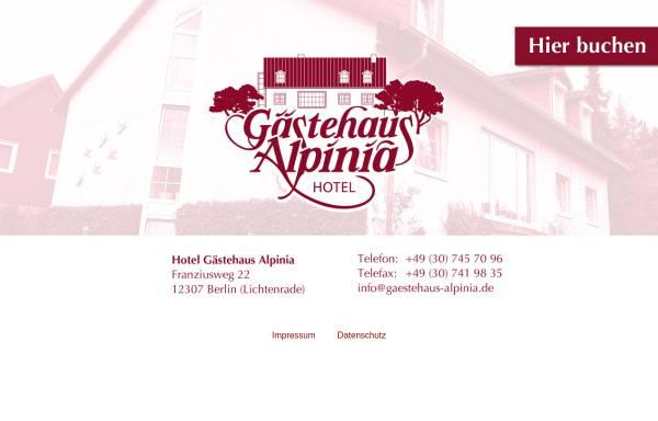 Vorschau von www.gaestehaus-alpinia.de, Hotel Lichtenrade