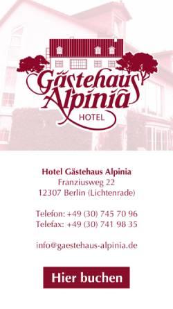Vorschau der mobilen Webseite www.gaestehaus-alpinia.de, Hotel Lichtenrade