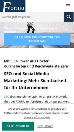 Vorschau der mobilen Webseite www.formu.de, Formu - das Schreibbüro für Wort & Co.