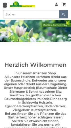 Vorschau der mobilen Webseite www.pflanzen-discounter24.de, Pflanzen-Discounter24