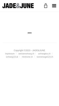 Vorschau der mobilen Webseite www.jadejune.com, JADE&JUNE - Limitierte Fotokunst-Editionen