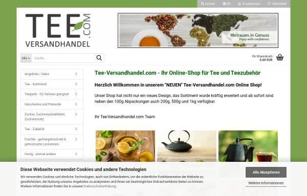 Vorschau von www.tee-versandhandel.com, Tee Versandhandel