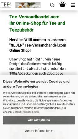 Vorschau der mobilen Webseite www.tee-versandhandel.com, Tee Versandhandel