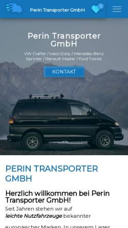 Vorschau der mobilen Webseite www.perin-nutzfahrzeuge.de, Perin Nutzfahrzeuge - Inh. Francesco Perin