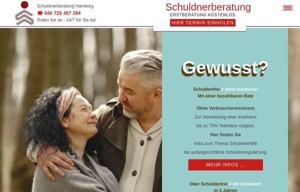 Vorschau von www.schuldnerberatunghamburg.com, Schuldnerberatung Hamburg mit RfS