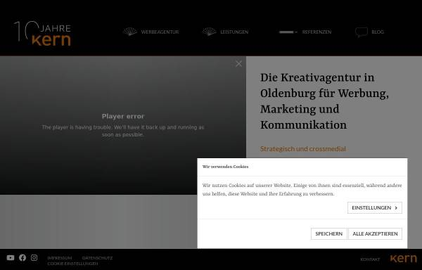 Vorschau von kern-kreativagentur.de, KERN - die Kreativagentur