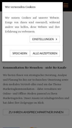 Vorschau der mobilen Webseite kern-kreativagentur.de, KERN - die Kreativagentur