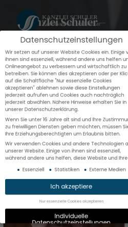 Vorschau der mobilen Webseite www.raschuler.de, Rechtsanwalt Schuler