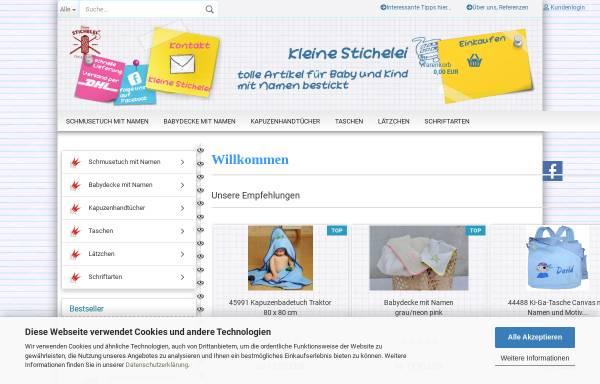 Vorschau von www.kleine-stichelei.de, Kleine Stichelei, Dörthe Hagenah