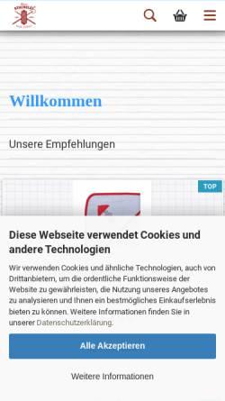 Vorschau der mobilen Webseite www.kleine-stichelei.de, Kleine Stichelei, Dörthe Hagenah