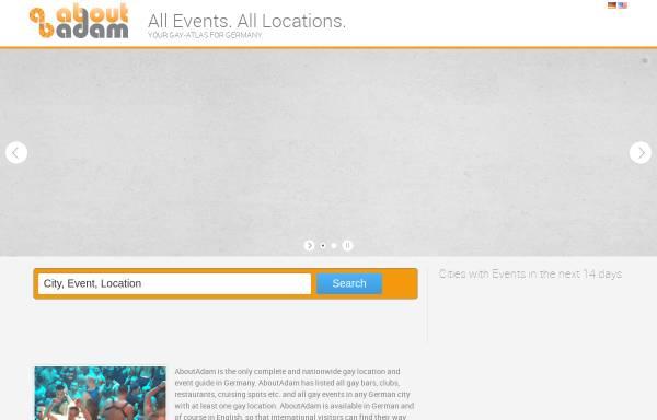 Vorschau von aboutadam.com, AboutAdam - Der Szene Atlas für Deutschland