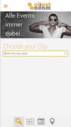 Vorschau der mobilen Webseite aboutadam.com, AboutAdam - Der Szene Atlas für Deutschland
