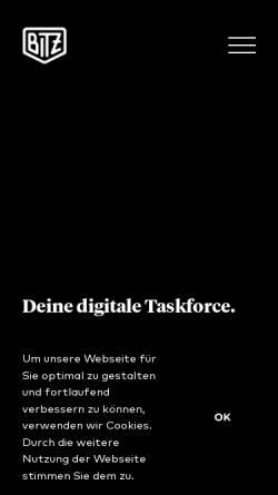 Vorschau der mobilen Webseite bitzdesign.de, bitzdesign