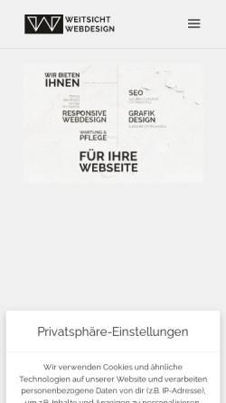 Vorschau der mobilen Webseite www.weitsicht-webdesign.de, Webdesign mit Weitsicht