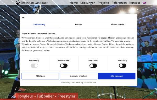 Vorschau von www.fussball-jongleur.de, Sebastian Landauer