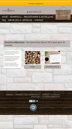 Vorschau der mobilen Webseite kaminholz-nord.de, Kaminholz Nord