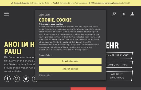 Vorschau von www.superbude.de, Superbude St. Pauli - Hotel, Hostel, Lounge