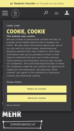 Vorschau der mobilen Webseite www.superbude.de, Superbude St. Pauli - Hotel, Hostel, Lounge