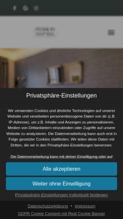 Vorschau der mobilen Webseite www.pension-ampark.de, Pension Am Park