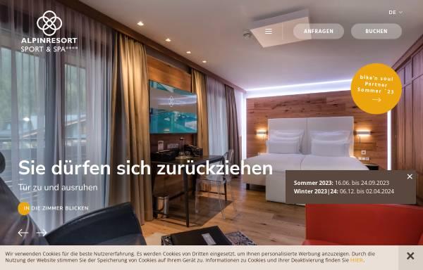 Vorschau von www.alpinresort.com, Alpinresort Sport & Spa Hotel in Saalbach