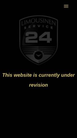 Vorschau der mobilen Webseite www.limousinenservice24.de, Limousinenservice 24 GmbH