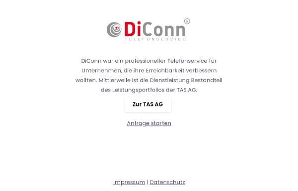 Vorschau von diconn.de, DiConn Telefonservice, TAS AG