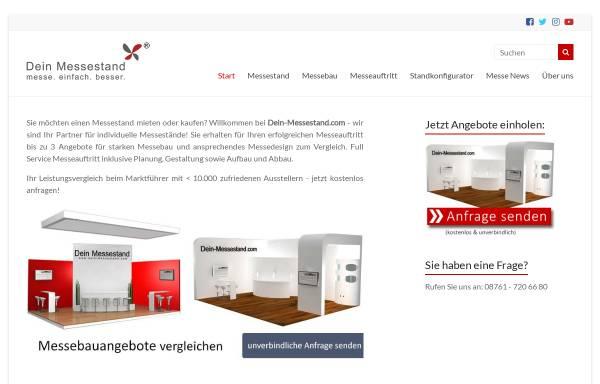 Vorschau von dein-messestand.com, Dein Messestand, Dein Service GmbH