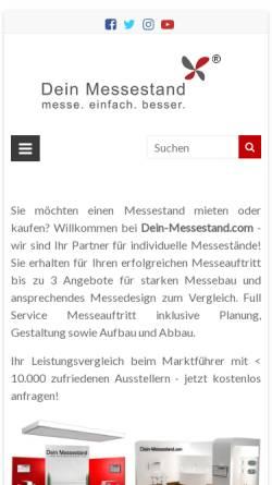 Vorschau der mobilen Webseite dein-messestand.com, Dein Messestand, Dein Service GmbH