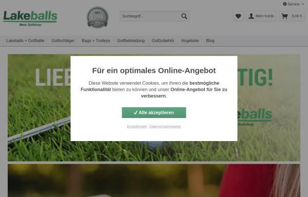Vorschau von www.lakeballs.de, Lakeballs Golfshop, BIRDIE GMBH