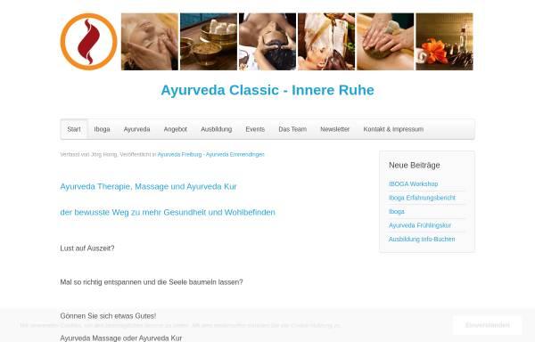 Vorschau von www.ayurveda-classic.de, Ayurveda Massage Kur Freiburg Emmendingen