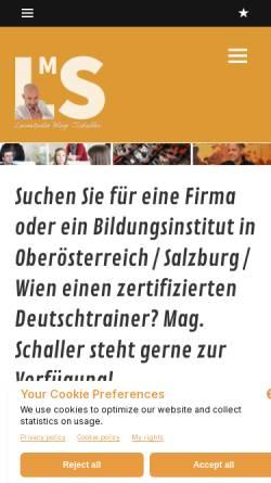 Vorschau der mobilen Webseite www.lernstudio-schaller.eu, Lernstudio Mag. Schaller