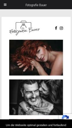 Vorschau der mobilen Webseite www.fotografie-bauer.de, Bauer, Stephanie