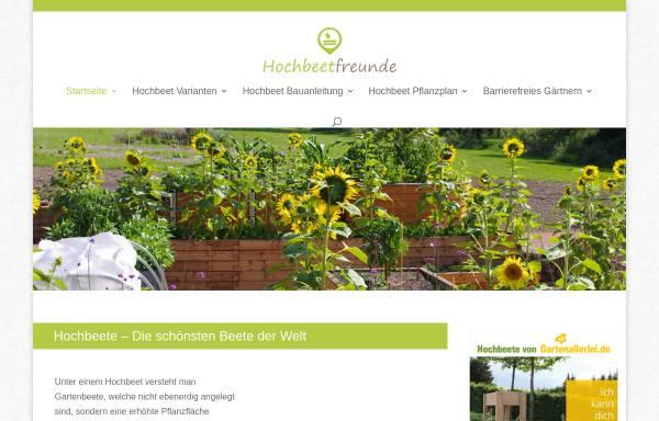 Vorschau von www.hochbeetfreunde.de, Hochbeetfreunde - alles rund um's Hochbeet